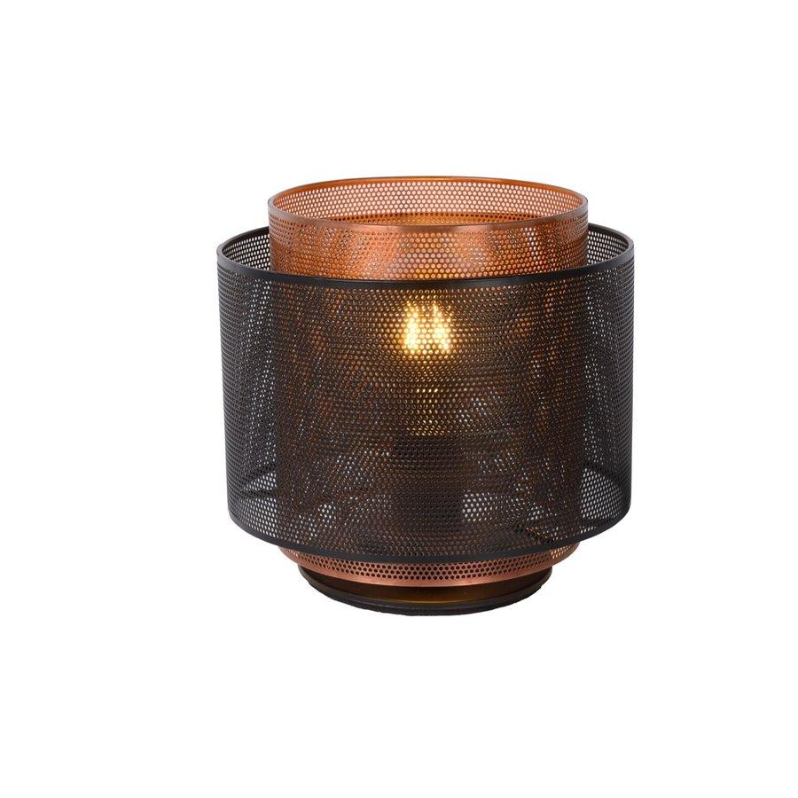 Tafellamp Orrin ø25 cm metaal zwart en koper-1