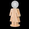 Expo Trading Holland Tafellamp houten vrouwtje Eve in twee maten