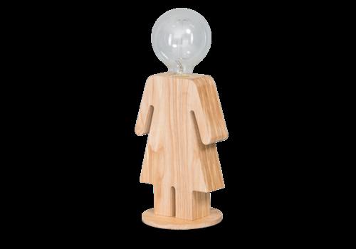 Tafellamp houten vrouwtje Eve