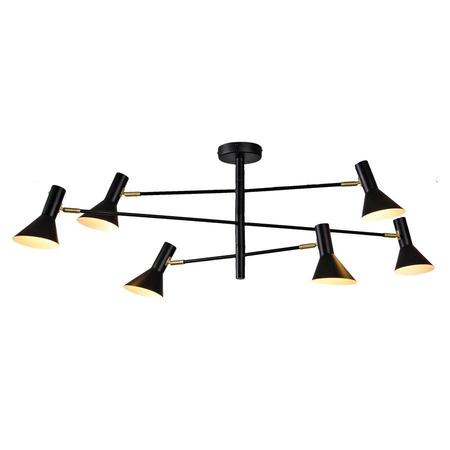Plafondlamp Izmir zwart/goud draaibaar-1