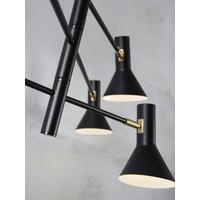 thumb-Plafondlamp Izmir zwart/goud draaibaar-4