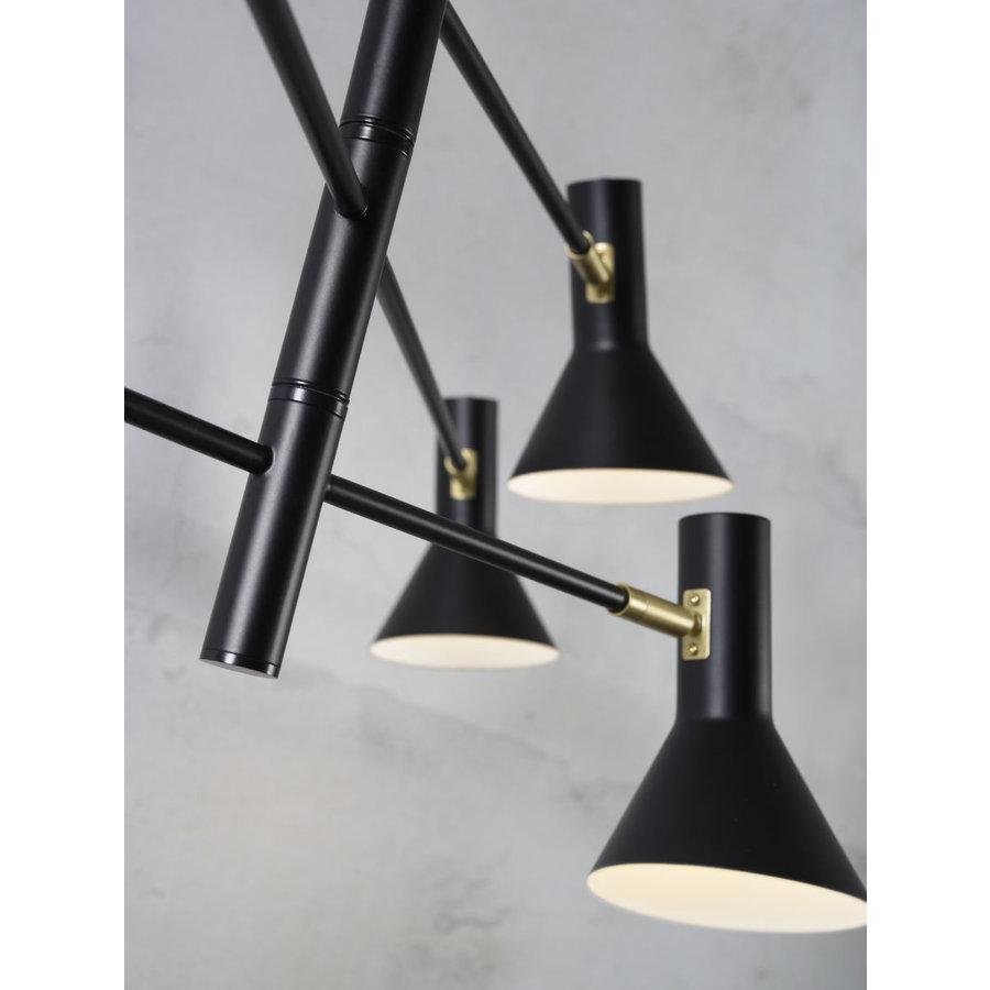 Plafondlamp Izmir zwart/goud draaibaar-4