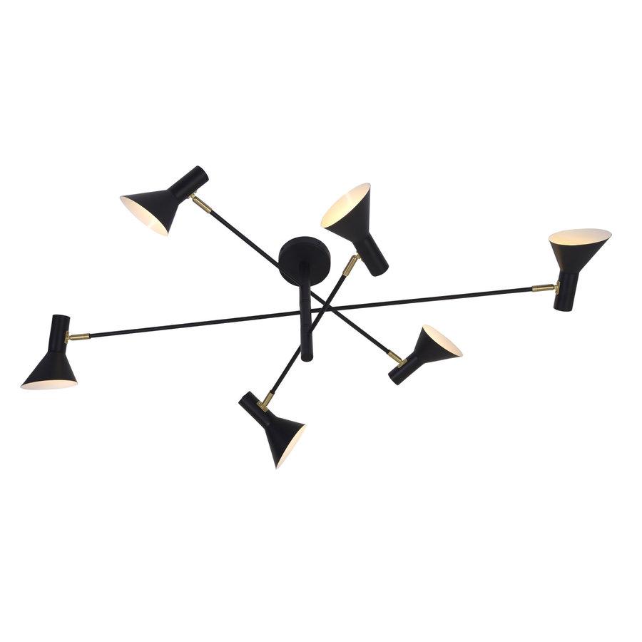 Plafondlamp Izmir zwart/goud draaibaar-8