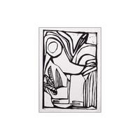 thumb-Urban Cotton wandkleed Vogel-6