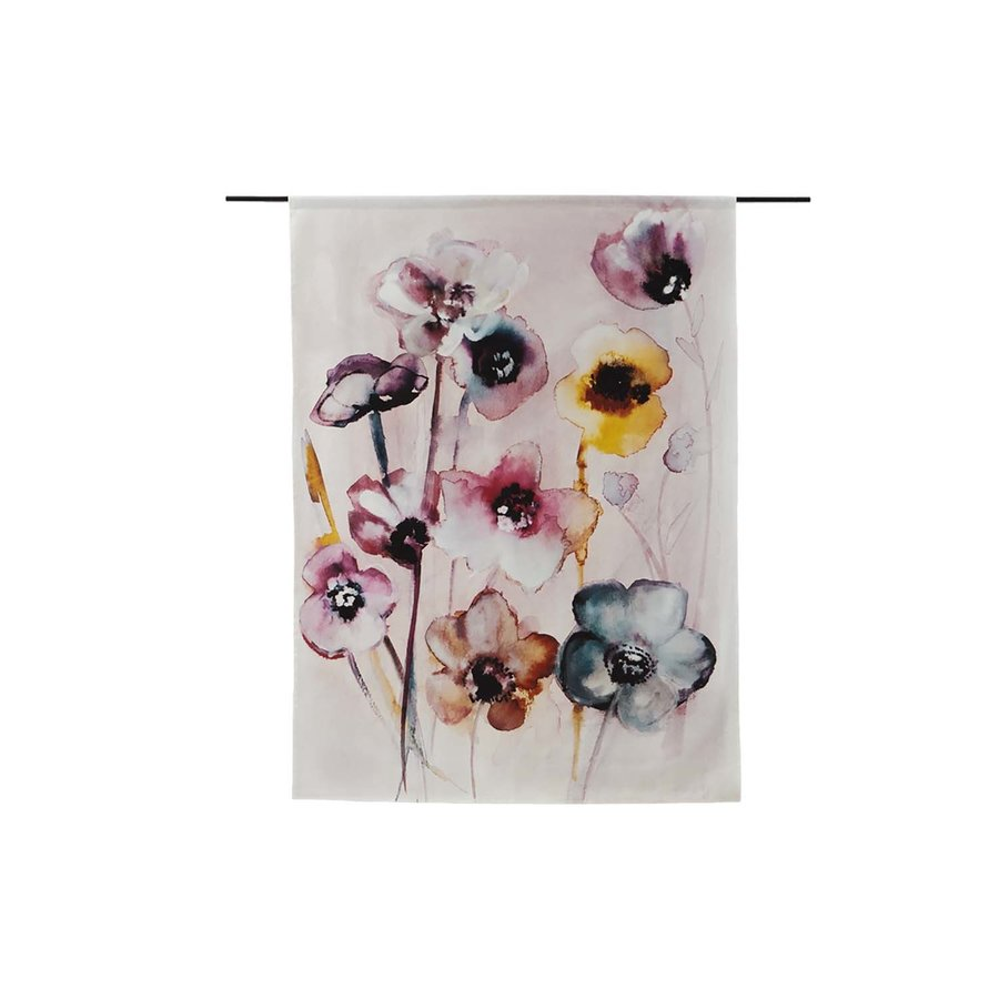 Wandkleed Flowers in Soft Hues-1