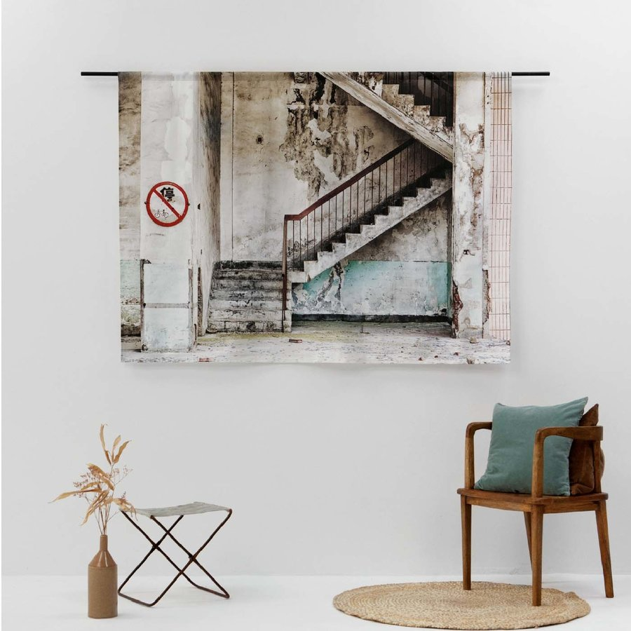 Wandkleed Concrete Stairs-2