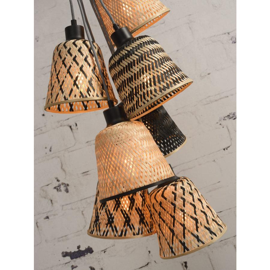 Hanglamp Kalimantan Bamboo 7-kaps-5