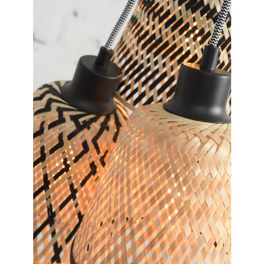 Hanglamp Kalimantan Bamboo 3-kaps-5