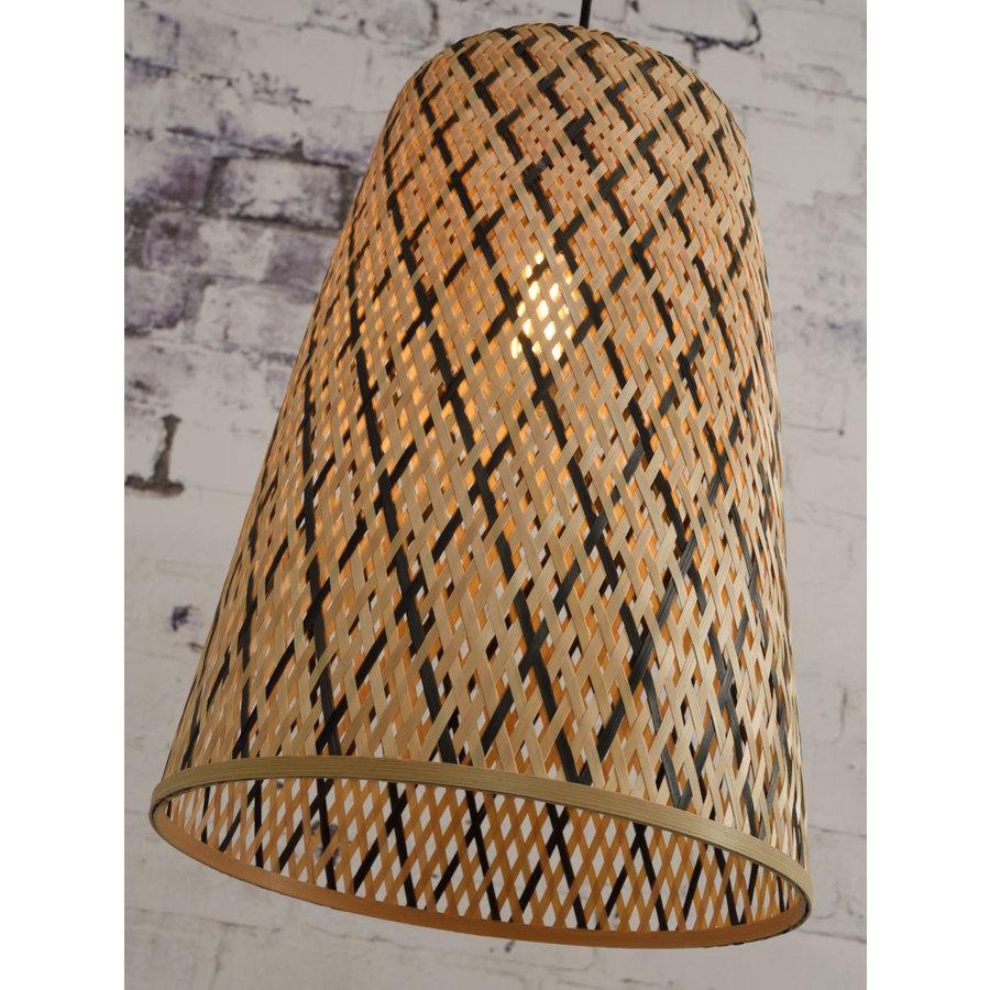 Hanglamp Kalimantan Bamboo tapered maat S-3