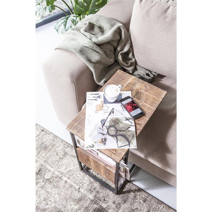By-Boo Sofa-tafel / bijzettafel Slider met tijdschriftenvak-4
