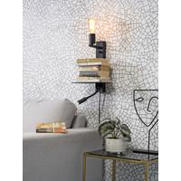 thumb-Wandlamp FLORENCE Large: met sfeerlicht, leeslamp, boekenplank en usb-oplader-5