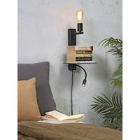 thumb-Wandlamp FLORENCE Large: met sfeerlicht, leeslamp, boekenplank en usb-oplader-6