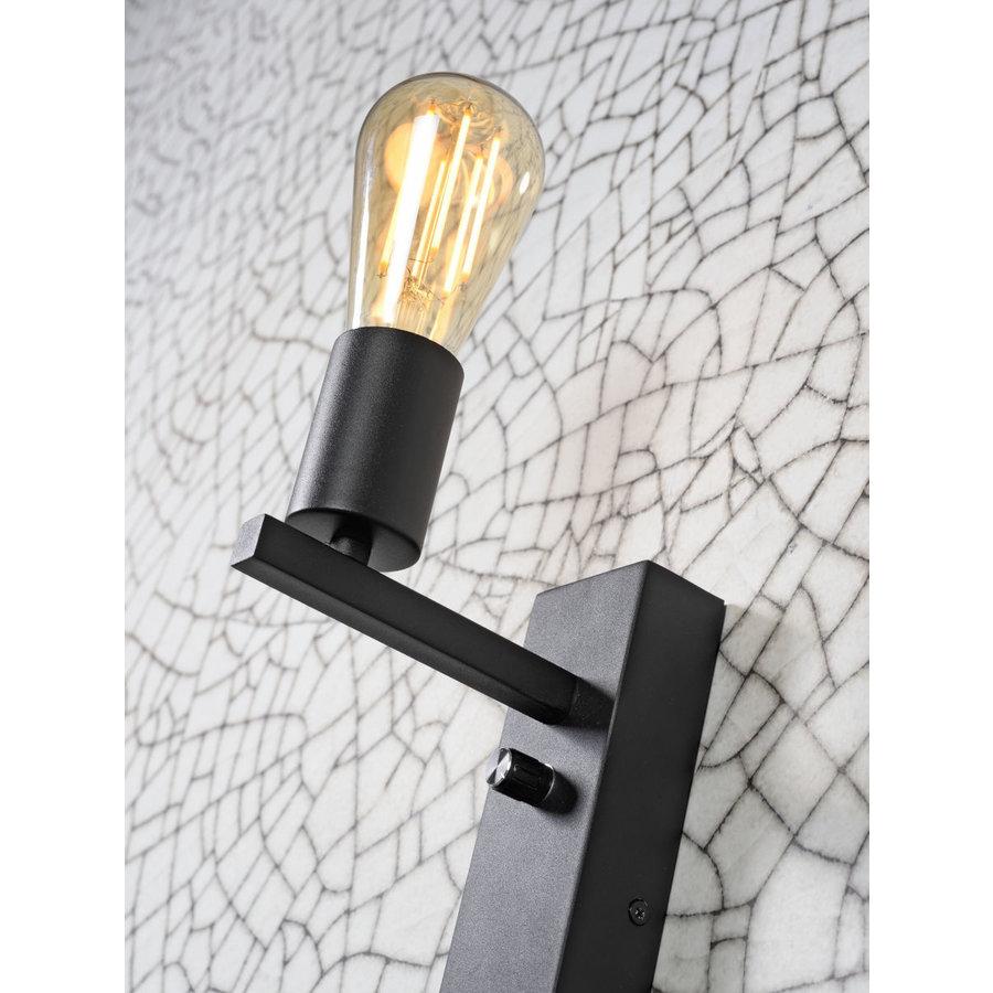 Wandlamp FLORENCE Large: met sfeerlicht, leeslamp, boekenplank en usb-oplader-7