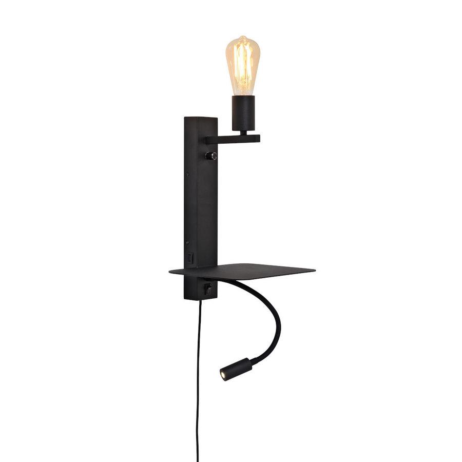 Wandlamp FLORENCE Large: met sfeerlicht, leeslamp, boekenplank en usb-oplader-1