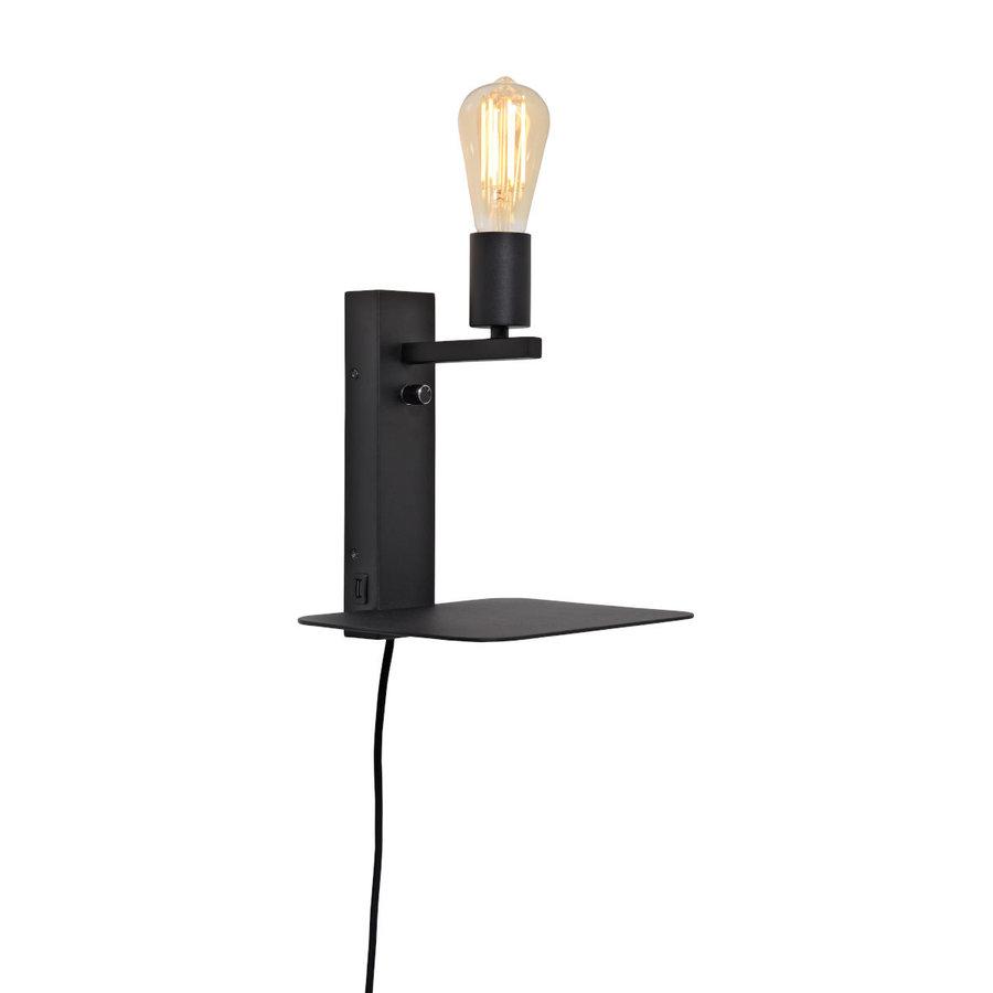 Wandlamp FLORENCE Small: met boekenplank en usb-oplader-1