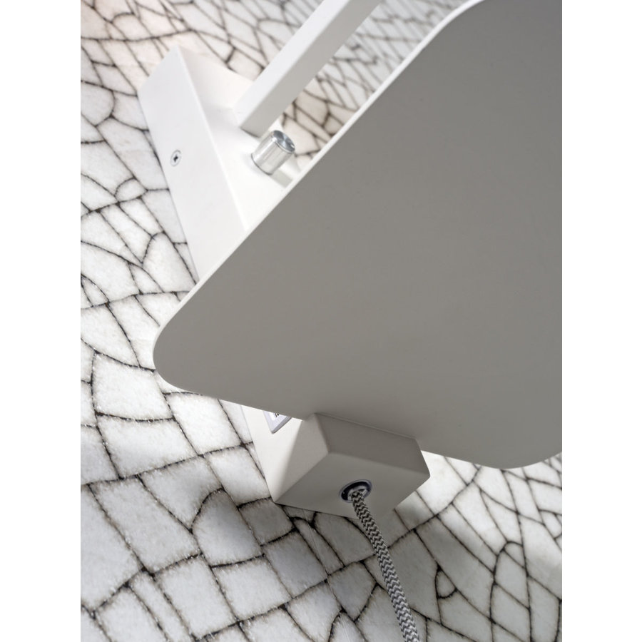 Wandlamp FLORENCE Small: met boekenplank en usb-oplader-7
