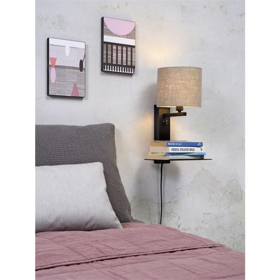 Wandlamp FLORENCE Medium: met lampenkap, boekenplank en usb-oplader-6
