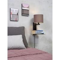 thumb-Wandlamp FLORENCE Medium: met lampenkap, boekenplank en usb-oplader-9