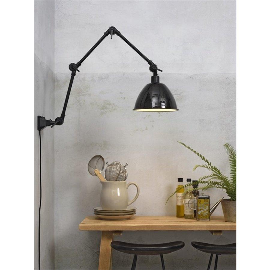 Wandlamp / Plafondlamp Amsterdam metaal zwart (maat L)-5
