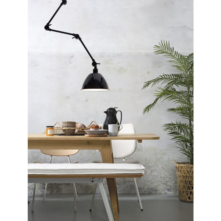 Wandlamp / Plafondlamp Amsterdam metaal zwart (maat L)-3