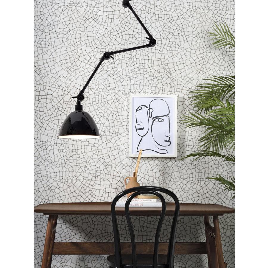 Wandlamp / Plafondlamp Amsterdam metaal zwart (maat L)-4