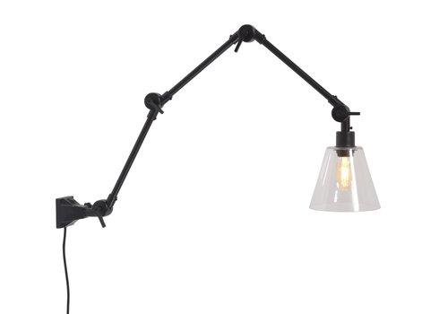 Plafond/wandlamp Amsterdam glas L