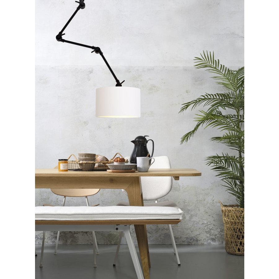 Plafond/wandlamp Amsterdam L met lampenkap textiel L-2