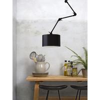 thumb-Plafond/wandlamp Amsterdam L met lampenkap textiel L-1