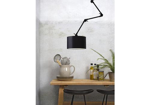 Plafond/wandlamp Amsterdam L textiel L