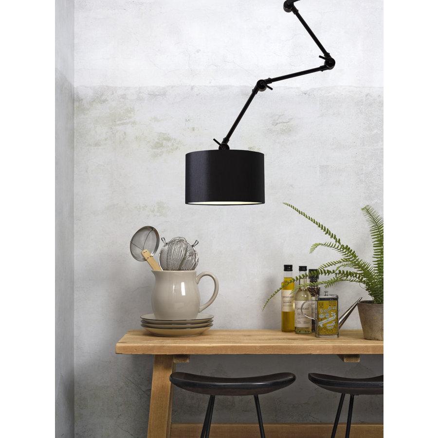 Plafond/wandlamp Amsterdam L met lampenkap textiel L-1