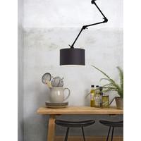 thumb-Plafond/wandlamp Amsterdam L met lampenkap textiel L-4
