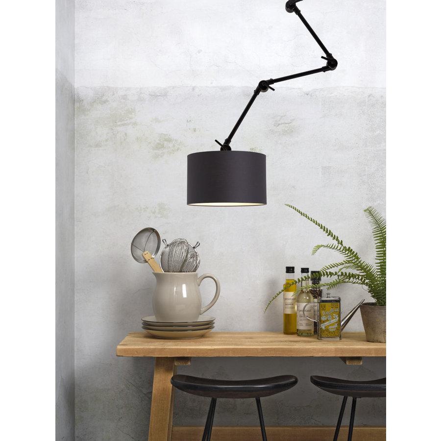 Plafond/wandlamp Amsterdam L met lampenkap textiel L-4