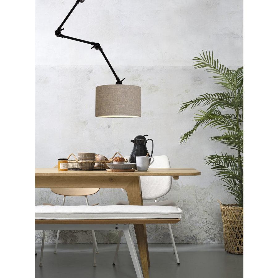 Plafond/wandlamp Amsterdam L met lampenkap textiel L-7