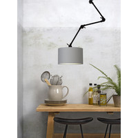 thumb-Plafond/wandlamp Amsterdam L met lampenkap textiel L-5