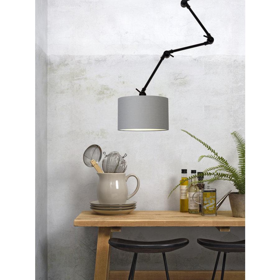 Plafond/wandlamp Amsterdam L met lampenkap textiel L-5