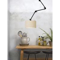 thumb-Plafond/wandlamp Amsterdam L met lampenkap textiel L-8