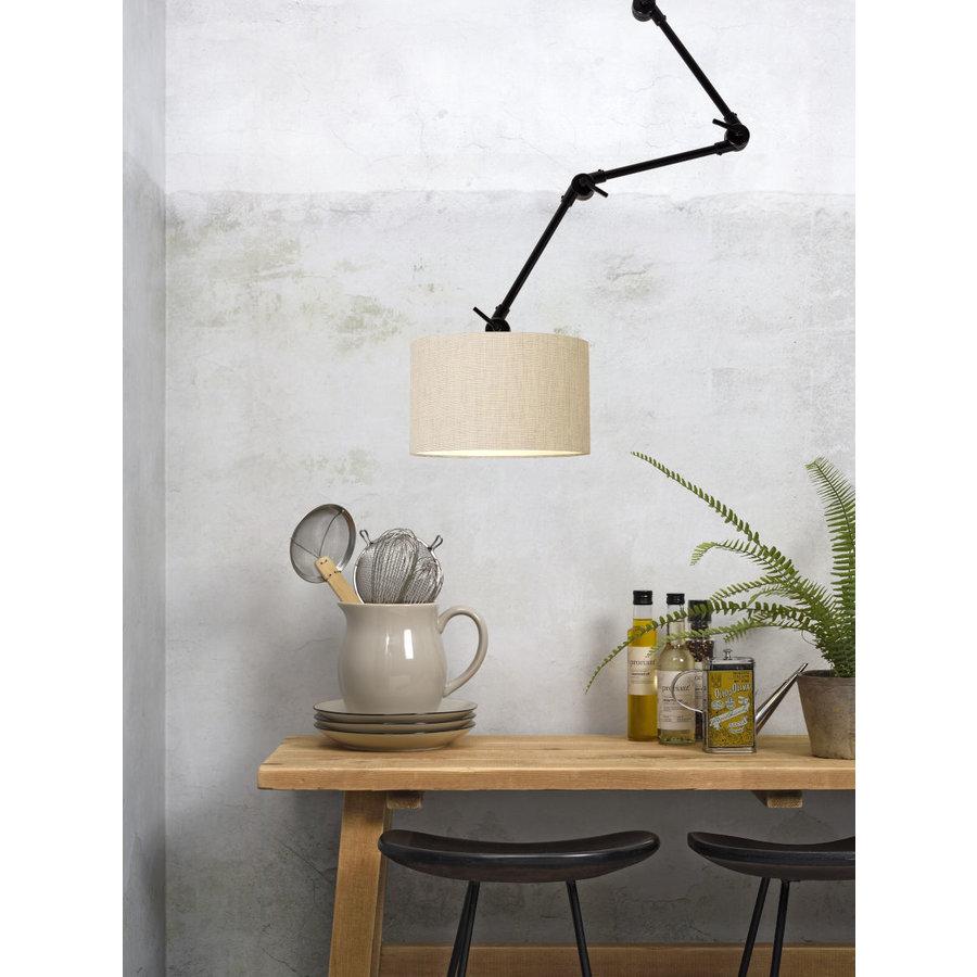Plafond/wandlamp Amsterdam L met lampenkap textiel L-8