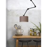 thumb-Plafond/wandlamp Amsterdam L met lampenkap textiel L-6