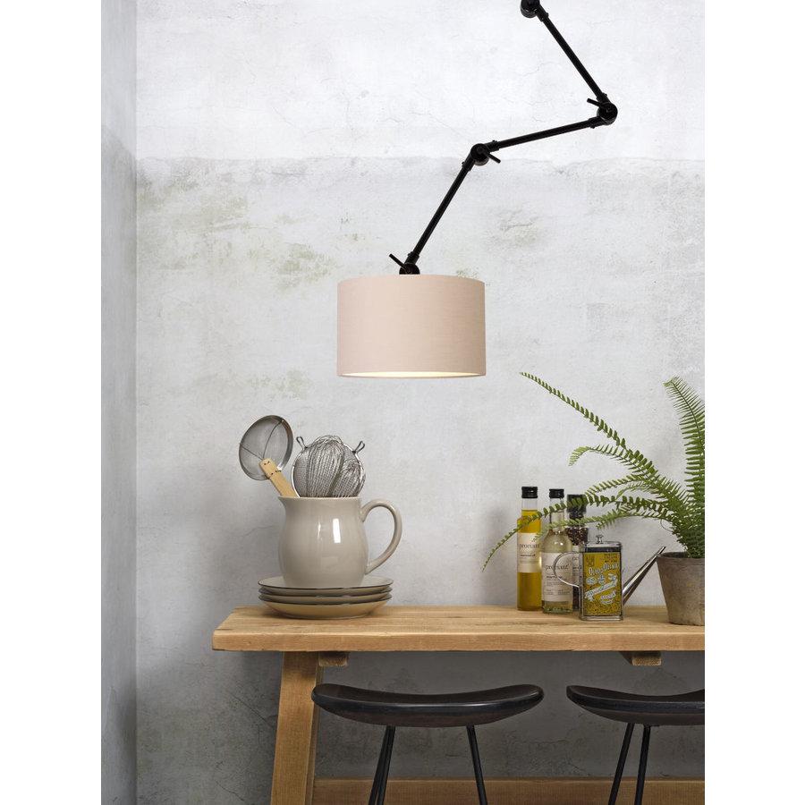 Plafond/wandlamp Amsterdam L met lampenkap textiel L-3