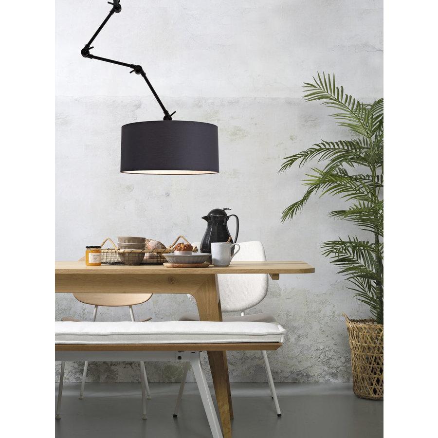 Plafond/wandlamp Amsterdam L met lampenkap textiel XL-1