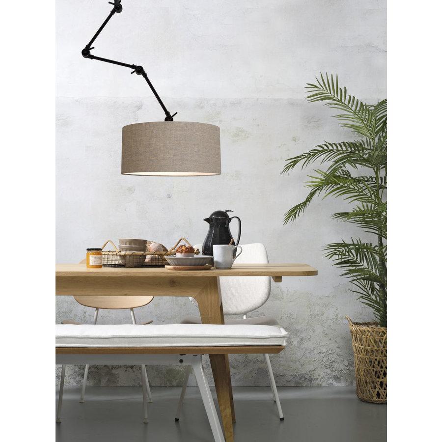 Plafond/wandlamp Amsterdam L met lampenkap textiel XL-7