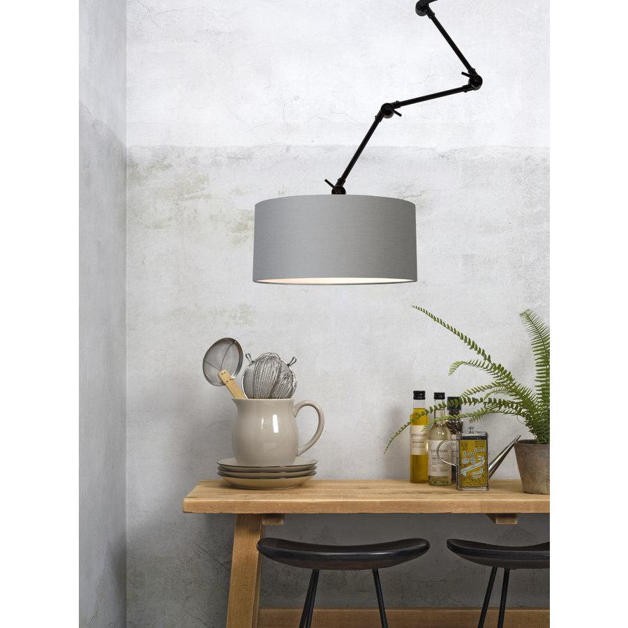 Plafond/wandlamp Amsterdam L met lampenkap textiel XL-5