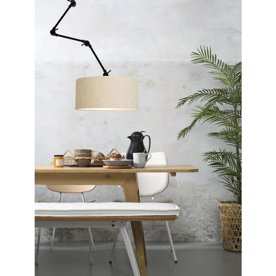Plafond/wandlamp Amsterdam L met lampenkap textiel XL-8