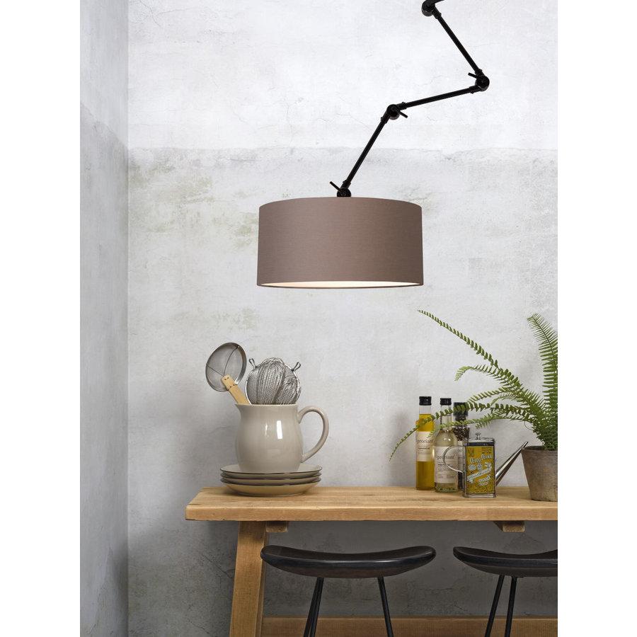 Plafond/wandlamp Amsterdam L met lampenkap textiel XL-6