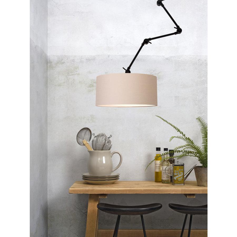 Plafond/wandlamp Amsterdam L met lampenkap textiel XL-3