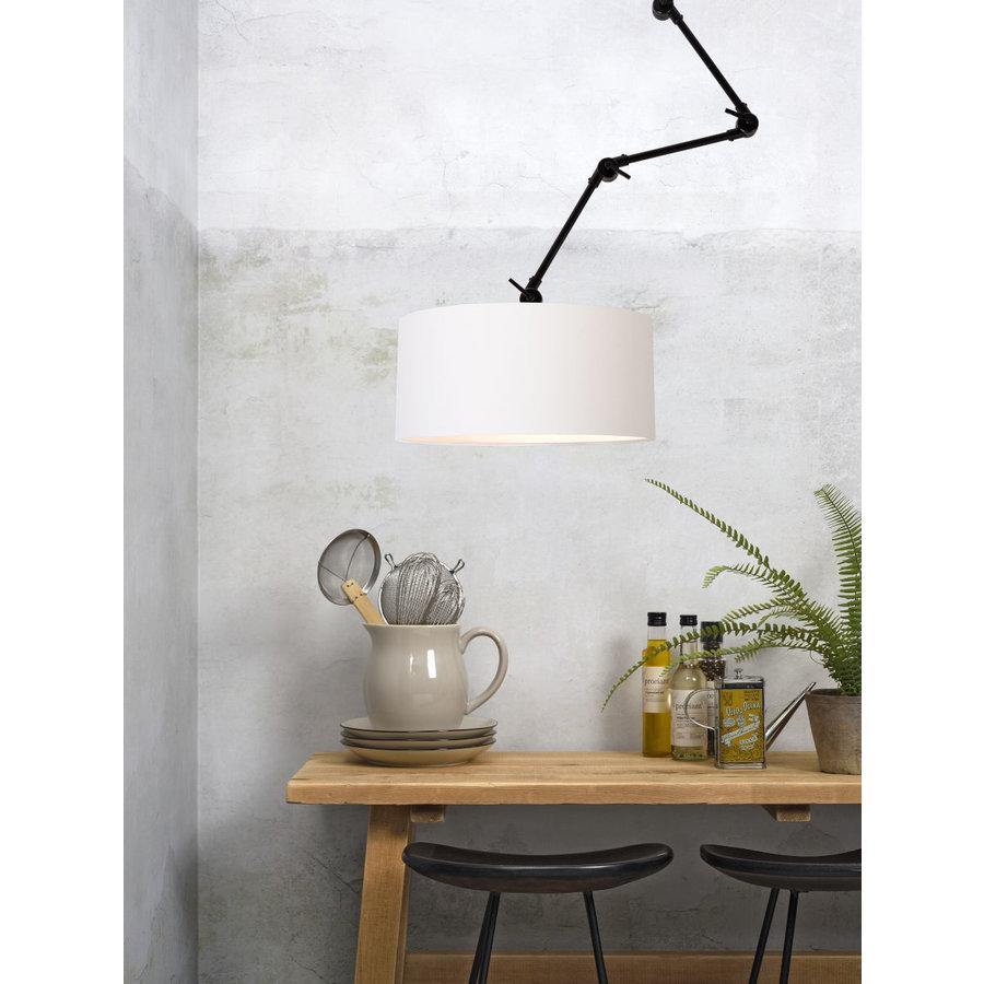 Plafond/wandlamp Amsterdam L met lampenkap textiel XL-2