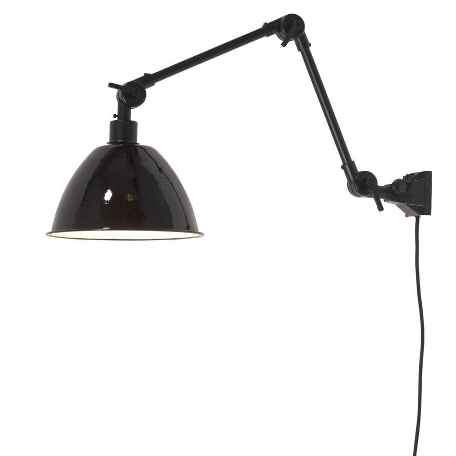 Wandlamp / Plafondlamp Amsterdam metaal zwart (maat M)-1