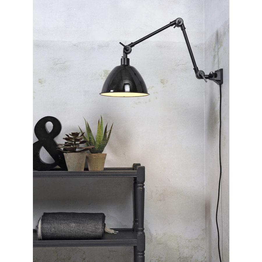 Wandlamp / Plafondlamp Amsterdam metaal zwart (maat M)-2