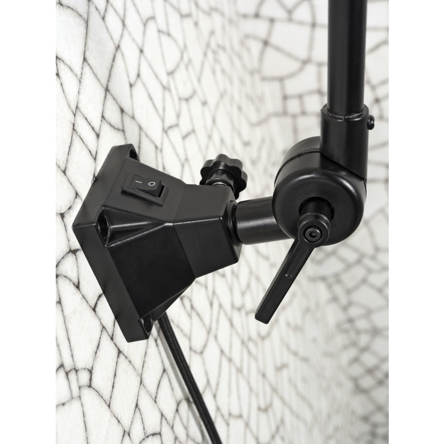 Wandlamp / Plafondlamp Amsterdam metaal zwart (maat M)-6