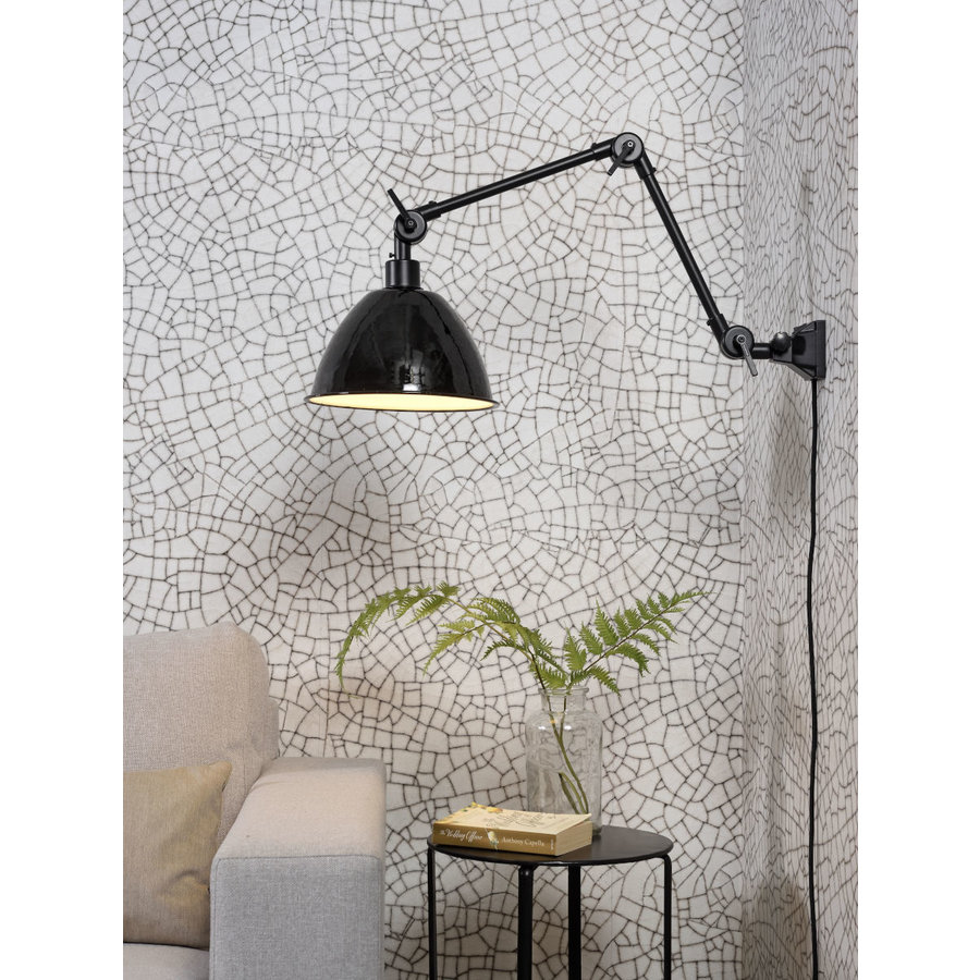 Wandlamp / Plafondlamp Amsterdam metaal zwart (maat M)-3